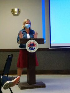 VA Alzheimer's Research Coordinator, Christine Firestone makes her remarks about important research on this topic!