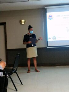 VA Suicide Prevention Coordinator makes her remarks